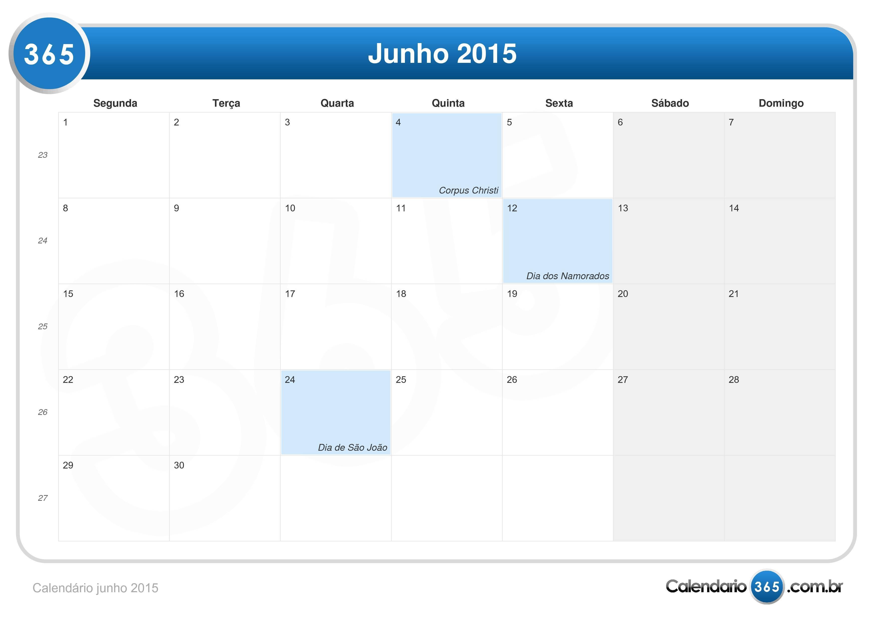 calend u00e1rio junho 2015